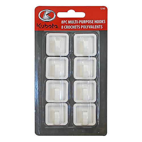 8-Piece Plastic Hook (2-Pack)