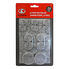 25-Piece Round Felt Pad Set