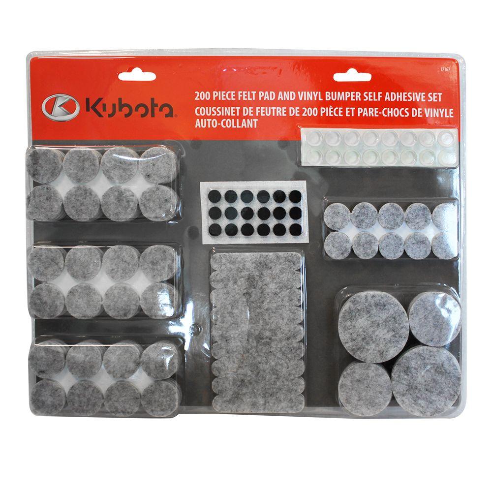 Kubota 200 pc Felt Pad and Vinyl Bumper Value Pack