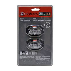 Kubota 3 LED Pivot Headlamp (2-Pack)