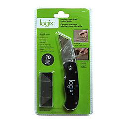 Logix Folding Lock-Back Utility Knife