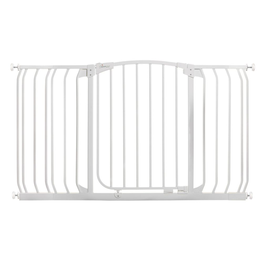 Dreambaby Chelsea Xtra-Wide Hallway Auto-Close Security Gate - White