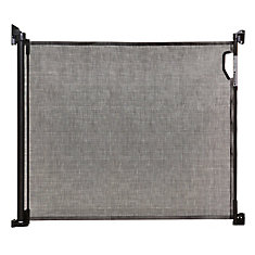 Indoor/Outdoor Retractable Gate - Black