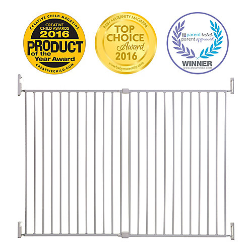 Broadway Xtra-Wide & Xtra-Tall Gro-Gate - White