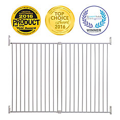 Broadway Xtra Tall et Xtra Wide Gro-Gate - blanche