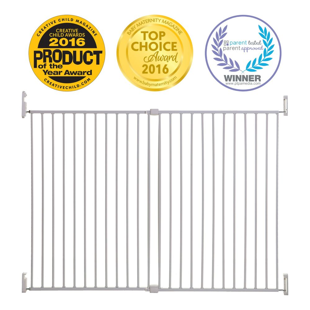 Dreambaby Broadway Xtra-Wide & Xtra-Tall Gro-Gate - White