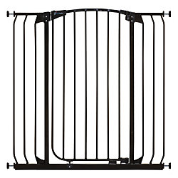 Dreambaby Chelsea Xtra Tall & Xtra Wide Hallway Auto-Close Metal Baby Gate - Black