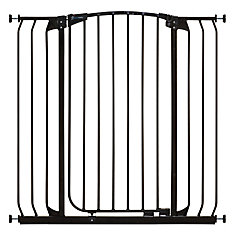 Chelsea Xtra Tall & Xtra Wide Hallway Auto-Close Metal Baby Gate - Black