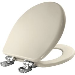 Bemis Round High Density Enameled Wood Toilet Seat in Biscuit