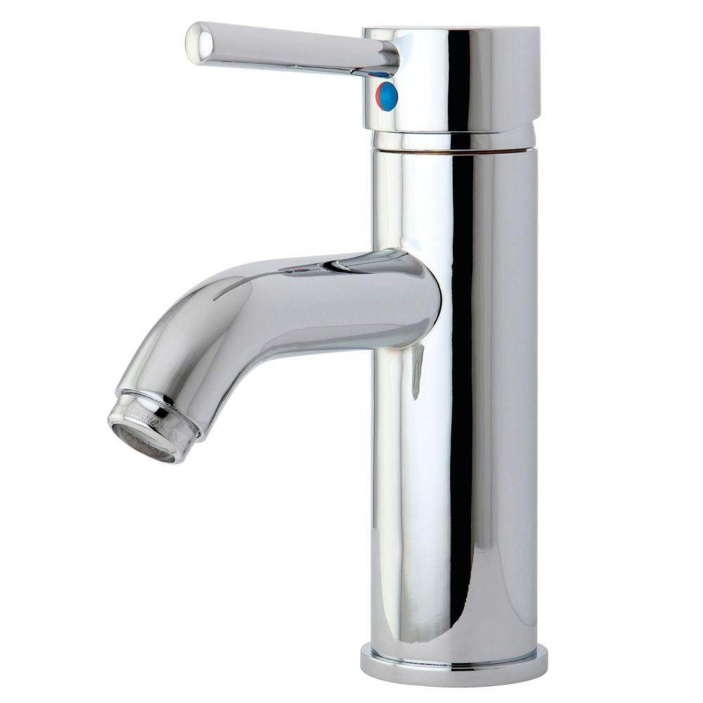Kingston Brass Contemporary Single Hole Single-Handle High-Arc Bathroom Faucet in Chrome
