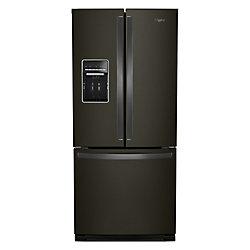 Whirlpool 30-inch W 20 cu.ft  French Door Refrigerator in Fingerprint Resistant Black Stainless Steel
