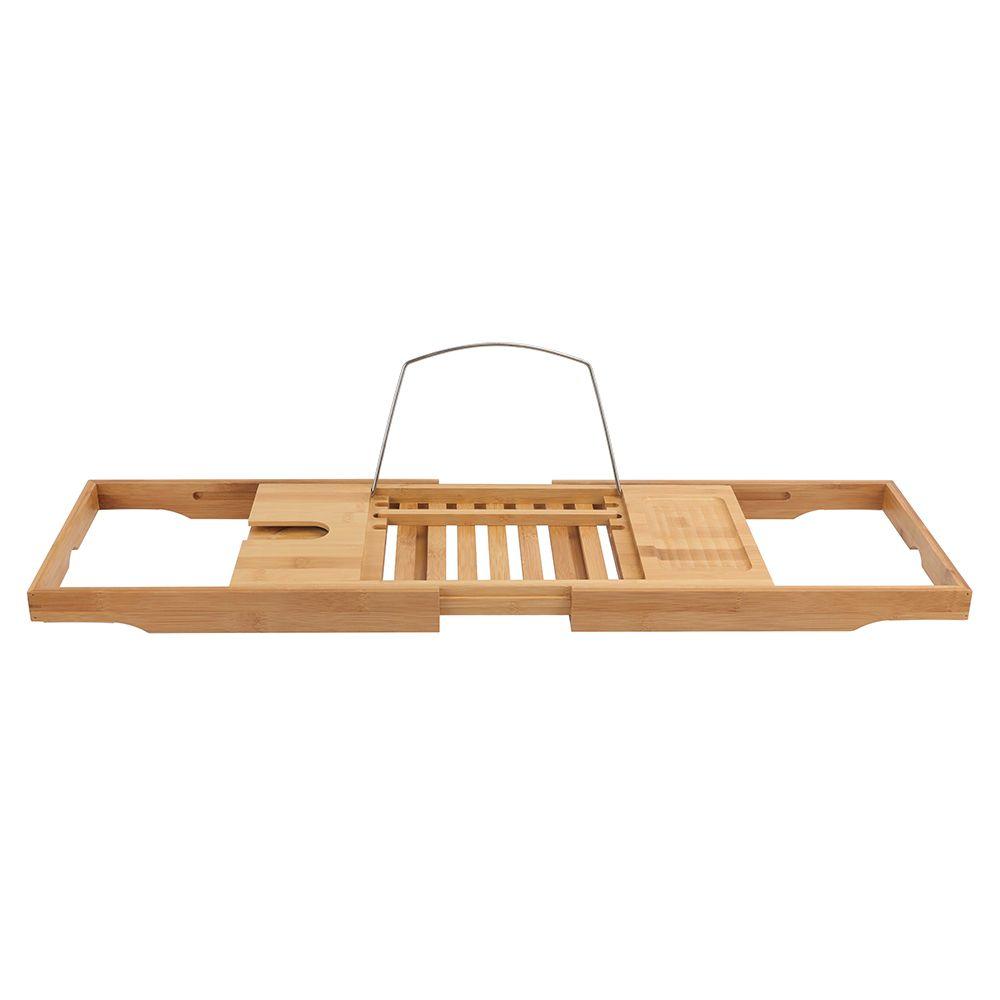 GLACIER BAY Expandable Bamboo Bathtub Tray