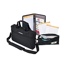 Briefcase and Document Bag Combo (4-Piece)