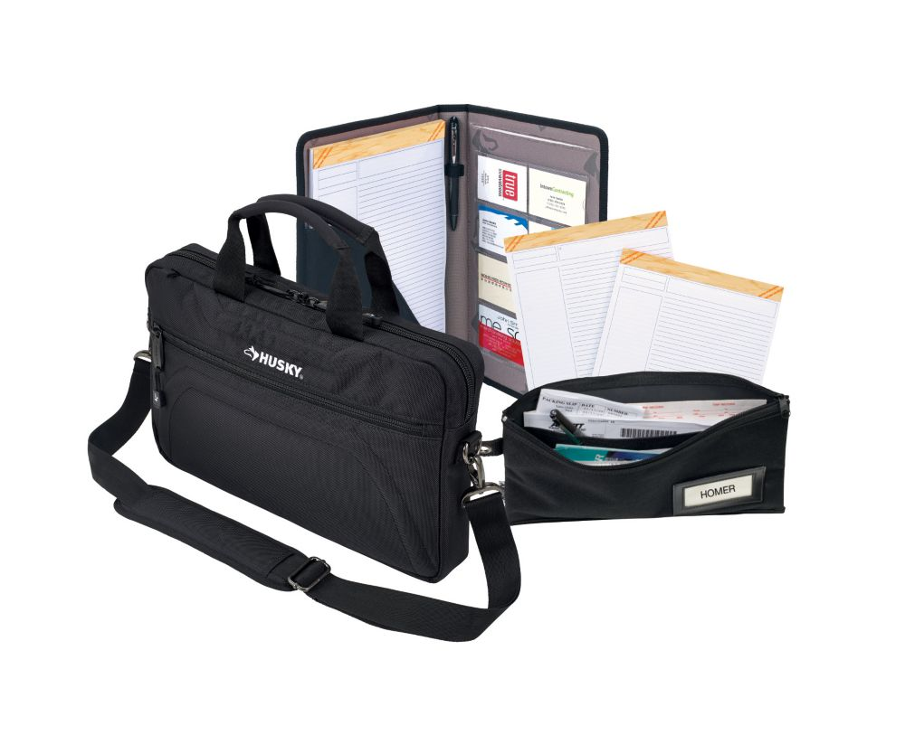 HUSKY Briefcase and Document Bag Combo (4-Piece)