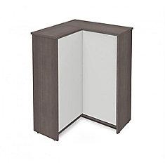 Small Space Corner Storage Unit - Bark Gray & White