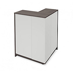 Bestar Small Space Outer Corner Storage Unit - Bark Gray & White