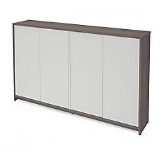 Small Space 60 inch Storage Unit - Bark Gray & White