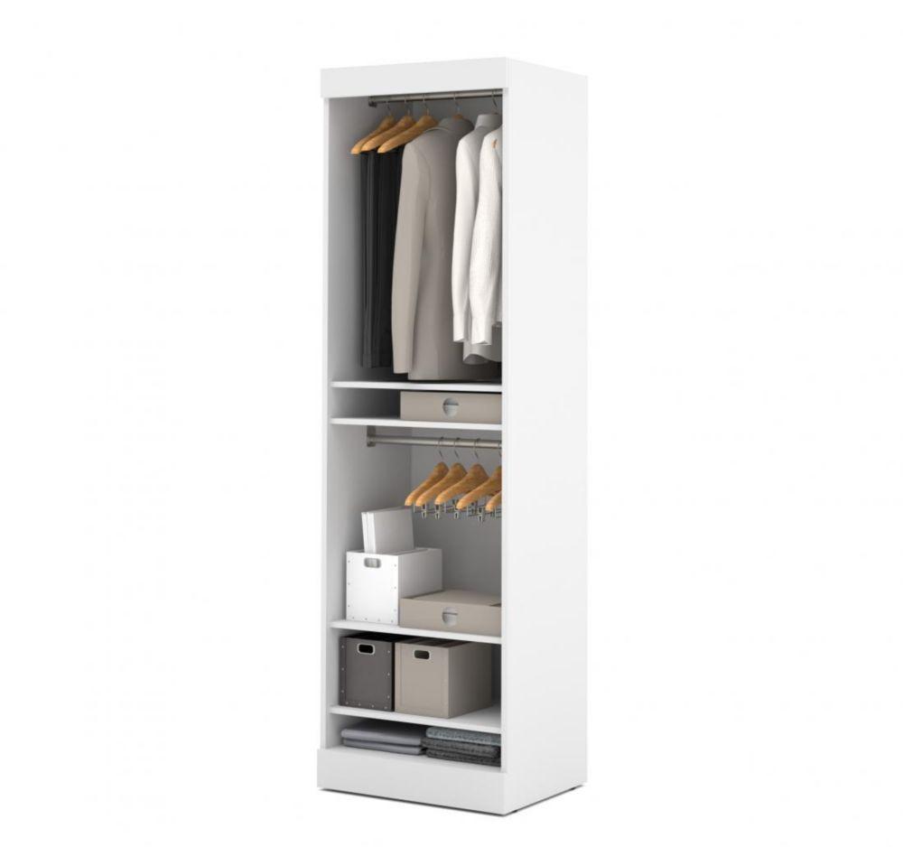 Bestar Nebula 25 inch Storage unit with door - White