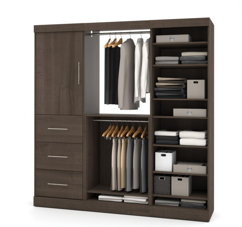 Bestar Nebula 80 inch Storage kit with 3 drawers - Antigua