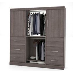 Bestar Nebula 80 inch Storage kit with 6 drawers- Bark Gray