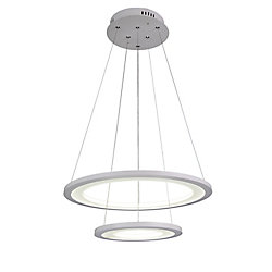 CWI Lighting Alloha 20-inch LED  Chandelier with White Finish