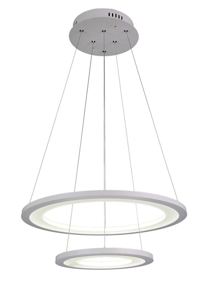 CWI Lighting Alloha 20-inch LED  Chandeleir with White Finish