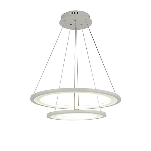 Alloha 24-inch LED  Chandelier with White Finish