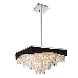 Havely 24 inch 17 Light Chandelier with Chrome Finish