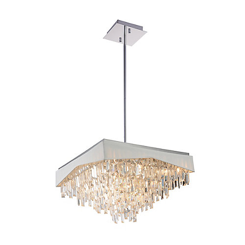 Havely 24-inch 17 Light Chandeleir with Chrome Finish