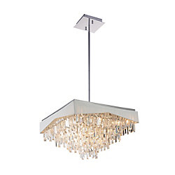 CWI Lighting Havely 24-inch 17 Light Chandelier with Chrome Finish