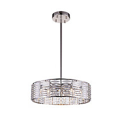 Squill 29-inch 12 Light Chandelier with Bright Nickel Finish