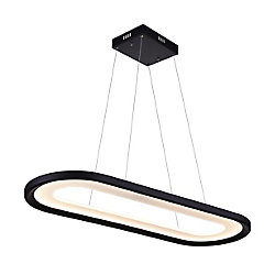 CWI Lighting Capel 50-inch LED  Chandelier with Black Finish