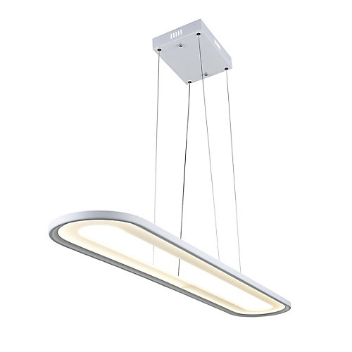 Capel 50-inch LED  Chandelier with White Finish