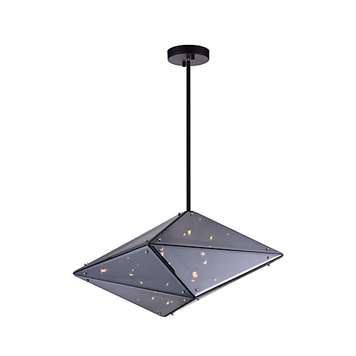Pento 24-inch 8 Light Chandelier with Black Finish