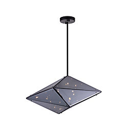 CWI Lighting Pento 24-inch 8 Light Chandelier with Black Finish
