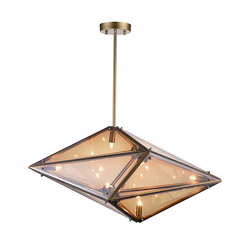 Pento 29-inch 8 Light Chandelier with Champagne Finish