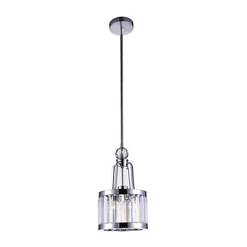 Belvoir 8-inch 1 Light Pendant with Chrome Finish