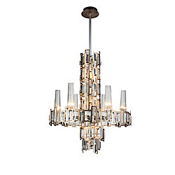 CWI Lighting Quida 24-inch 12 Light Chandelier with Champagne Finish