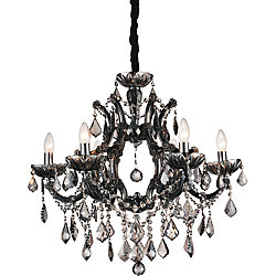 Dianna 26-inch 6 Light Chandelier with Chrome Finish