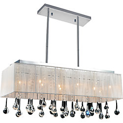 Water Drop 32-inch 10 Light Chandelier with Chrome Finish