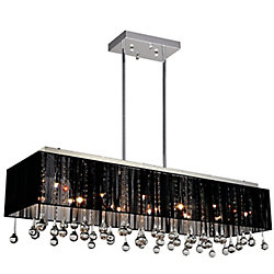 Water Drop 48 inch 17 Light Chandelier with Chrome Finish