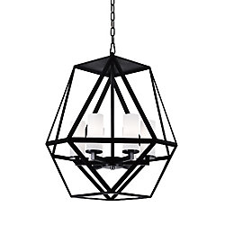 Trenton 22-inch 6 Light Chandelier with Black Finish