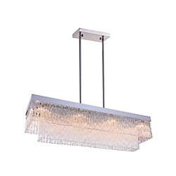 Carlotta 46-inch 10 Light Chandeleir with Chrome Finish
