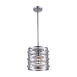 Petia 10-inch 1 Light Chandelier with Chrome Finish