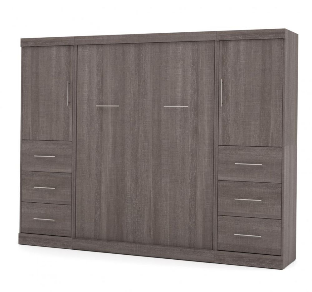 Nebula 109 inch Full Wall bed kit - Bark Gray