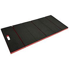 47.25-inch x 19-inch Black Multi-Purpose Folding Utility Mat