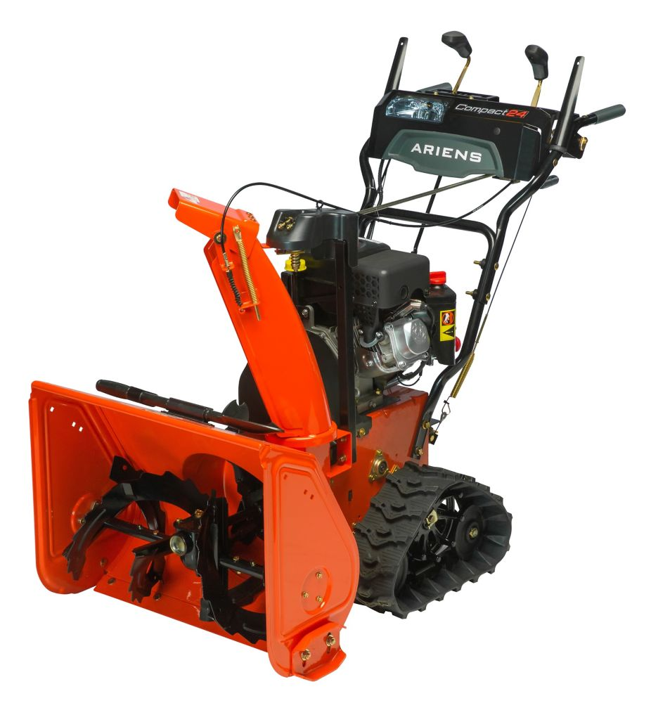 Compact Track 2-stage 223cc 24 inch Clearing Width Electric Start Gas Snowblower