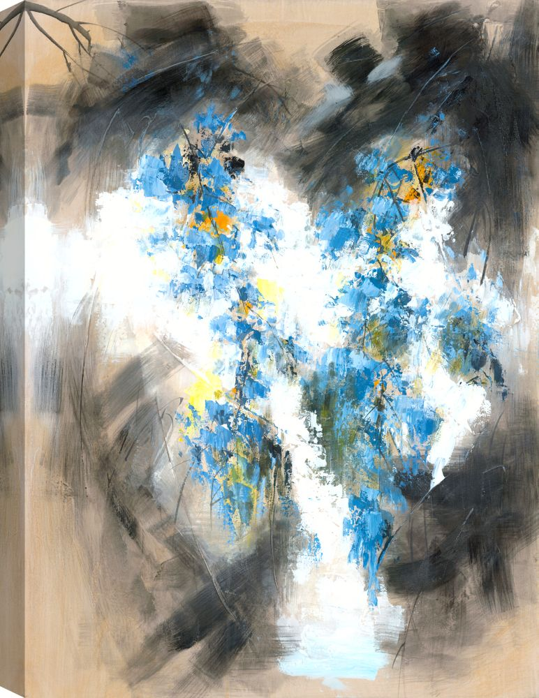 Mirrorize Canada The Blue Blossoms I, Floral Art, Canvas Print Wall Art