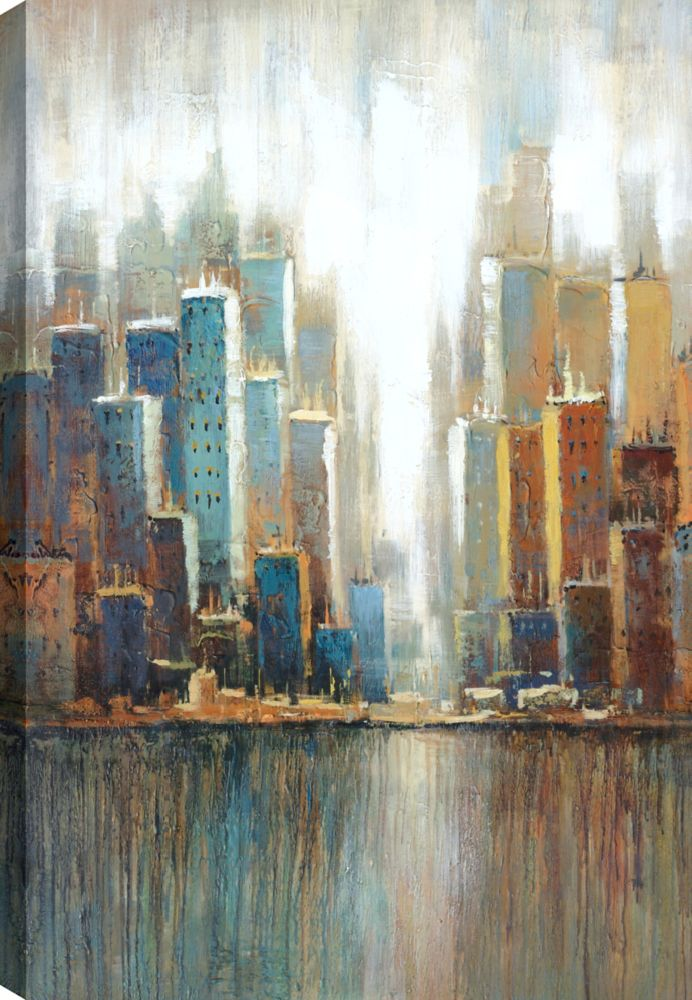 Mirrorize Canada Cityscape I, Landscape Art, Canvas Print Wall Art