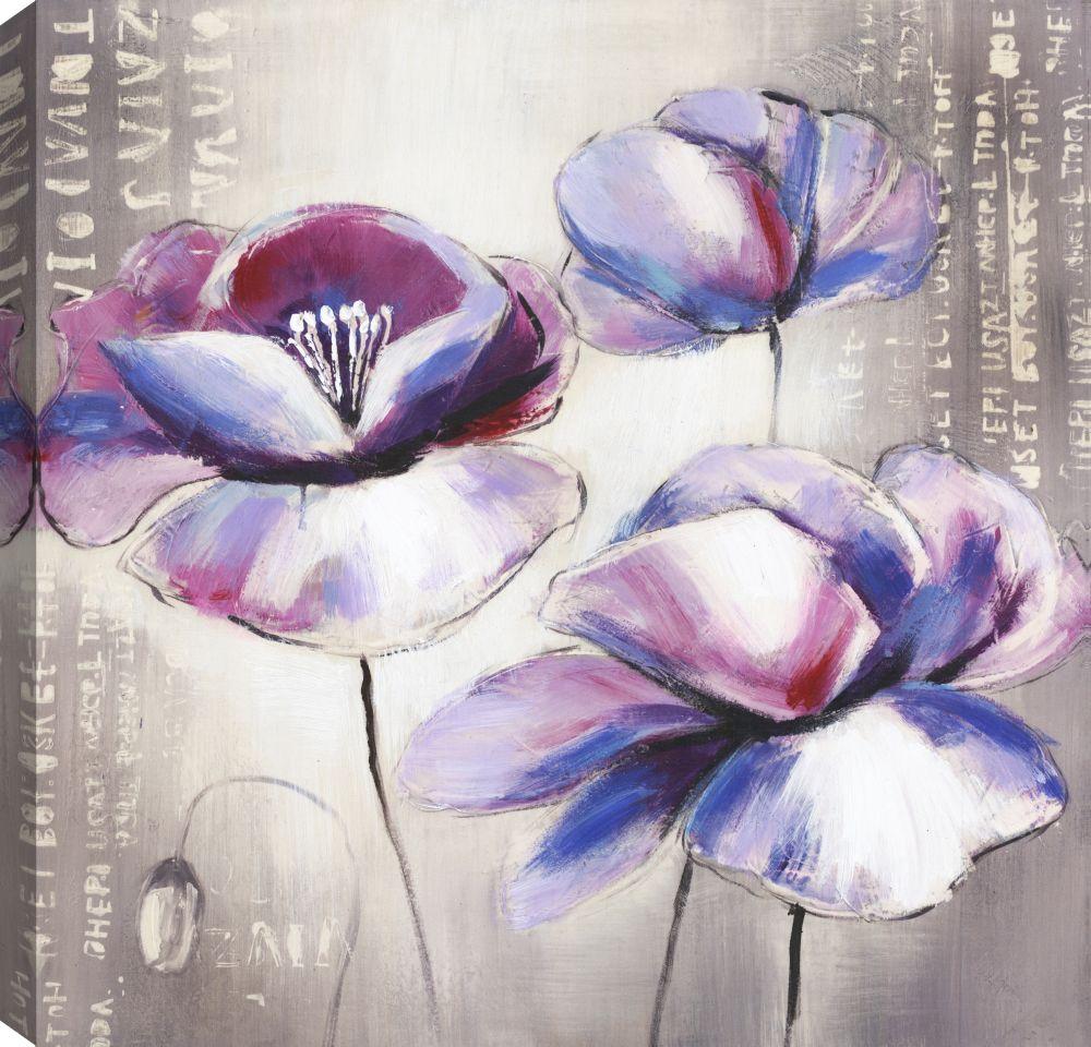 Mirrorize Canada Purple Beauty II, Floral Art, Canvas Print Wall Art